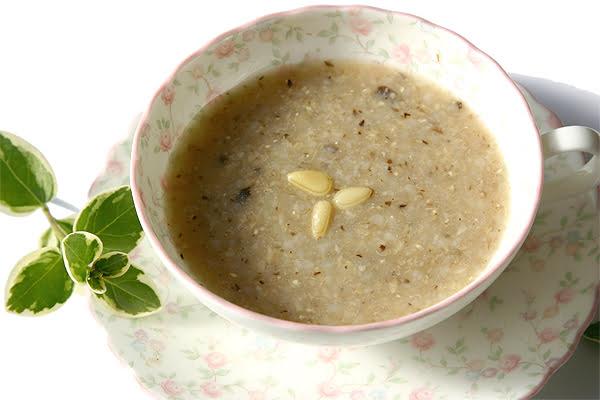 松の実スープ
