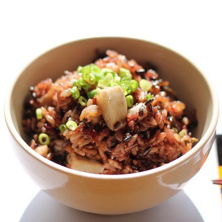 黒米と里芋と昆布のごはん